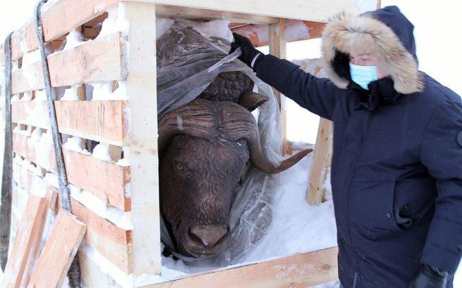 Норильчане выберут место для установки скульптуры овцебыка