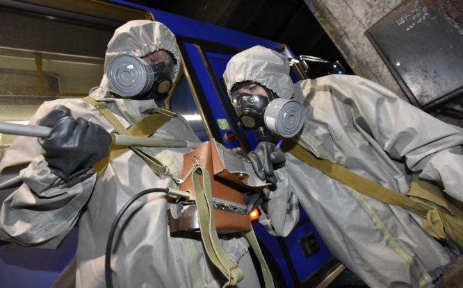 В Норильске прошли учения по радиационной и химзащите