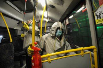 В Норильске продолжают дезинфицировать салоны автобусов