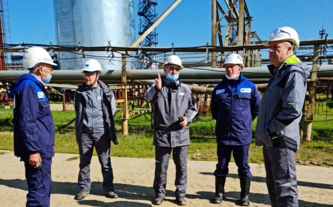 На Пелятке провели учебную тренировку по ликвидации разливов топлива
