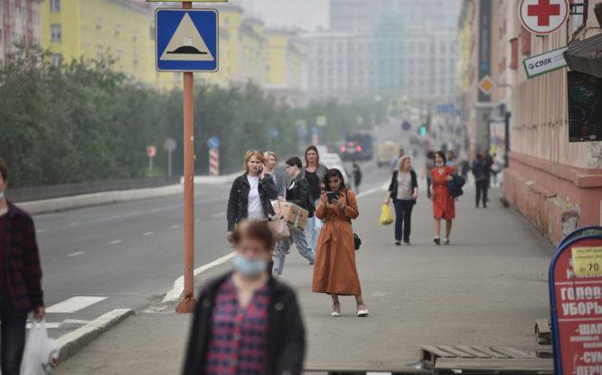 Дым от пожаров в Якутии добрался до Норильска и Дудинки