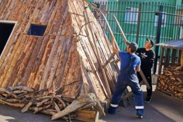 В «Таймырской Ойкумене» соорудили старинное жилище долган
