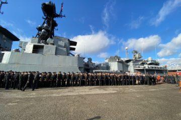Дудинка вновь встретила корабли Северного флота