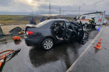 В ДТП под Норильском один человек погиб, четверо пострадали